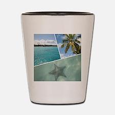 Caribbean Collage Shot Glass