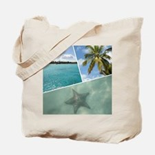 Caribbean Collage Tote Bag