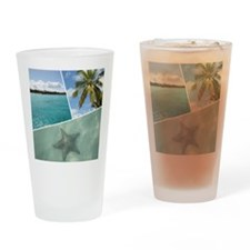 Caribbean Collage Drinking Glass