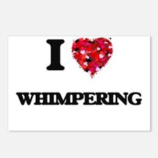 I love Whimpering Postcards (Package of 8)