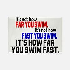 Swim Fast Rectangle Magnet (100 pack)