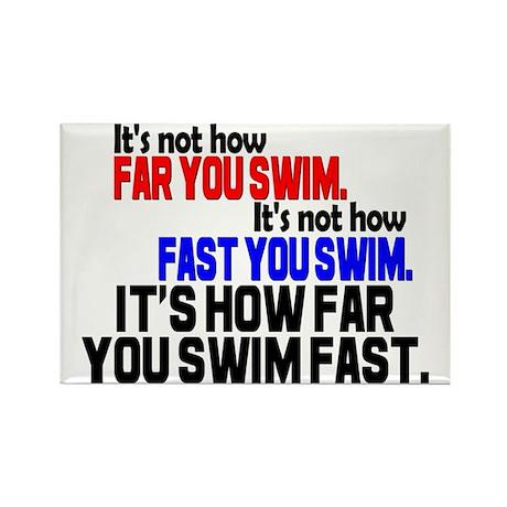 Swim Fast Rectangle Magnet