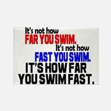 Swim Fast Rectangle Magnet