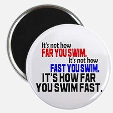 "Swim Fast 2.25"" Magnet (10 pack)"