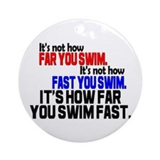Swim Fast Ornament (Round)