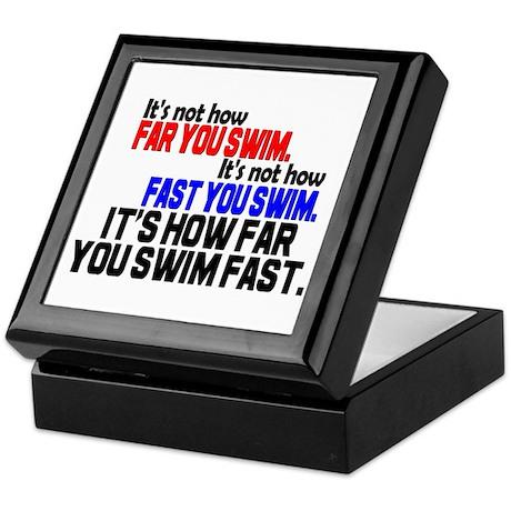 Swim Fast Keepsake Box