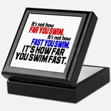 Swim Fast Keepsake Box