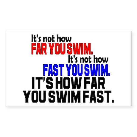 Swim Fast Rectangle Sticker