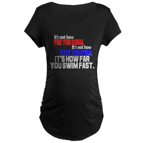 Swim Fast Maternity Dark T-Shirt