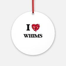 I love Whims Ornament (Round)