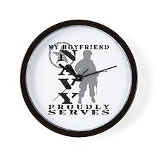 BF Proudly Serves - NAVY Wall Clock