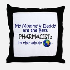 Best Pharmacists In The World Throw Pillow