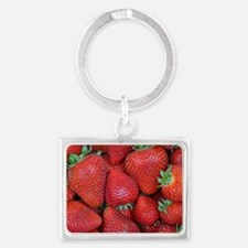 Cute Strawberry Landscape Keychain