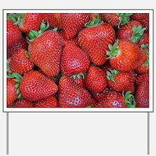 Unique Strawberries Yard Sign