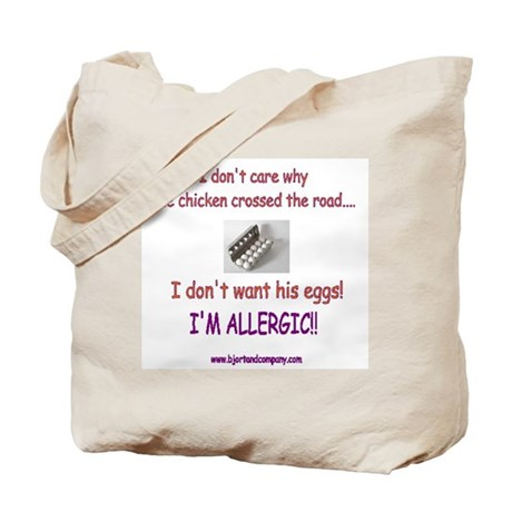 Egg Allergy/Tote Bag