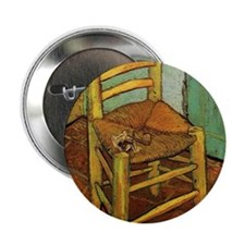 """Vincent Chair with his Pipe by Van Go 2.25"""" Button"""