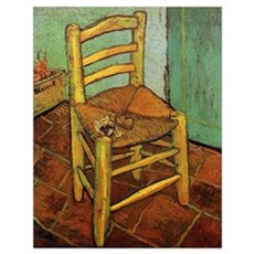 Vincent Chair with his Pipe by Van Gogh Poster