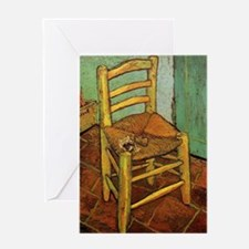 Vincent Chair with his Pipe by Van G Greeting Card