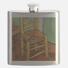 Vincent Chair with his Pipe by Van Gogh Flask