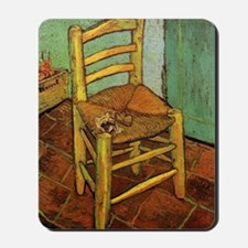 Vincent Chair with his Pipe by Van Gogh Mousepad