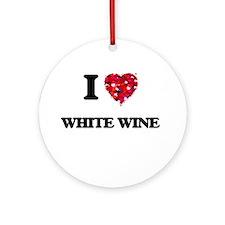 I love White Wine Ornament (Round)