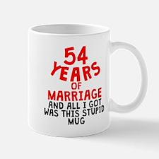 54 Years Of Marriage Mugs