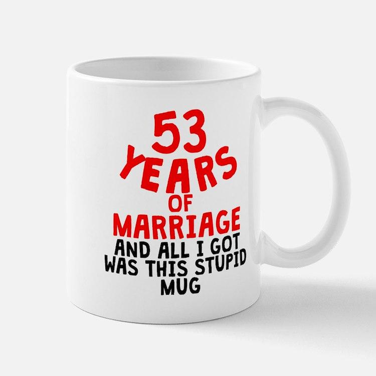 53 Years Of Marriage Mugs