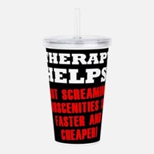 THERAPY HELPS Acrylic Double-wall Tumbler