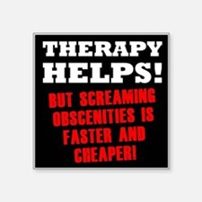 """THERAPY HELPS Square Sticker 3"""" x 3"""""""