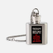 THERAPY HELPS Flask Necklace