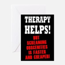 THERAPY HELPS Greeting Card