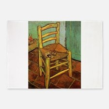 Vincent Chair with his Pipe by Van 5'x7'Area Rug