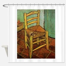 Vincent Chair with his Pipe by Van Shower Curtain