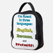 THREE LANGUAGES Neoprene Lunch Bag
