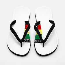 Roots-Music-Flag-Ethiopia Flip Flops