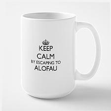 Keep calm by escaping to Alofau Samoa Mugs