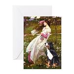 Windflowers & Bernese Greeting Card