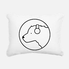 Polar Bear DJ Rectangular Canvas Pillow