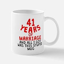 41 Years Of Marriage Mugs