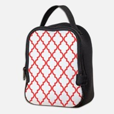 Coral Pink Moroccan Pattern (In Neoprene Lunch Bag
