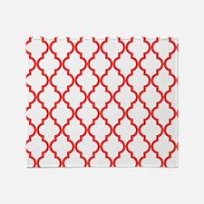 Coral Pink Moroccan Pattern (Inverte Throw Blanket