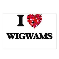 I love Wigwams Postcards (Package of 8)