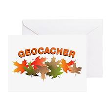 Autumn Geocacher Greeting Card