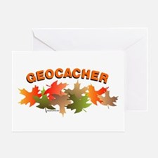 Autumn Geocacher Greeting Card