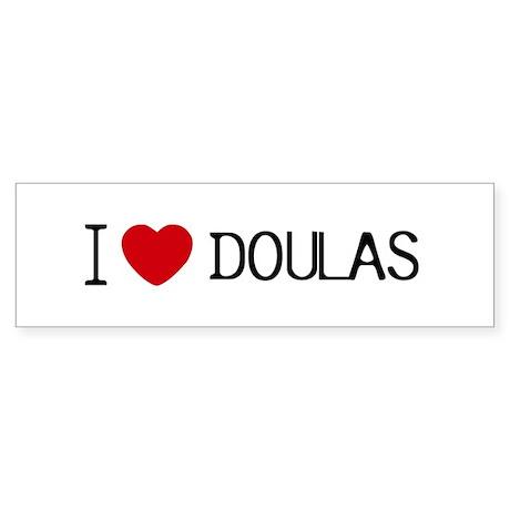 I heart Doulas Bumper Sticker
