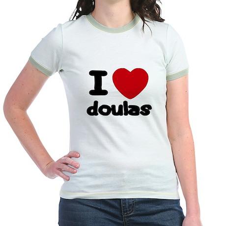 I heart Doulas Jr. Ringer T-Shirt