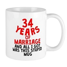 34 Years Of Marriage Mugs