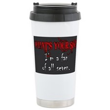 WHAT'S YOUR SIN Travel Mug
