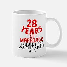 28 Years Of Marriage Mugs