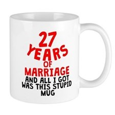 27 Years Of Marriage Mugs